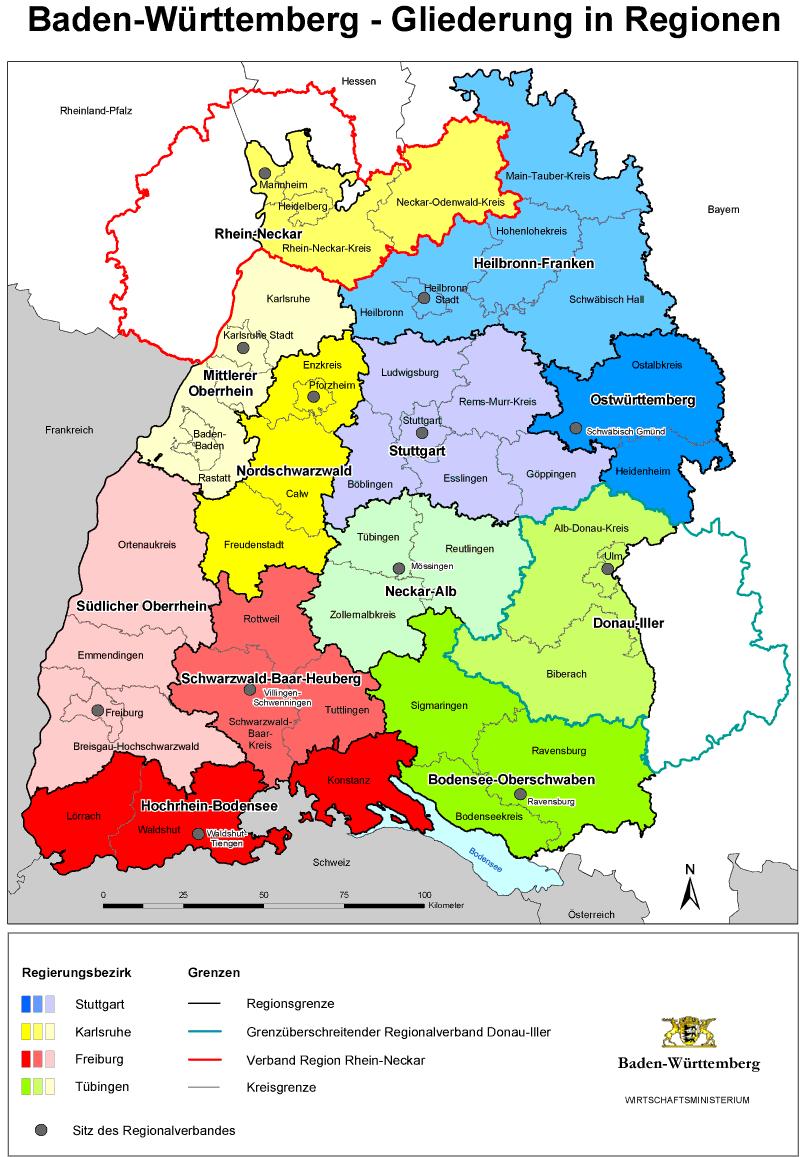 Region Heilbronn Franken Karte.Regionen Vergleich